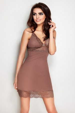 Dámská košilka Rose brown hnědá