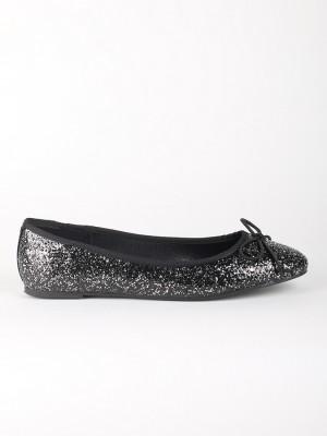 Balerínky Primadonna Calzatura Ballerina Glitter Nero Černá