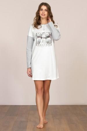 Dámská noční košile dlouhý rukáv Linclalor 92039