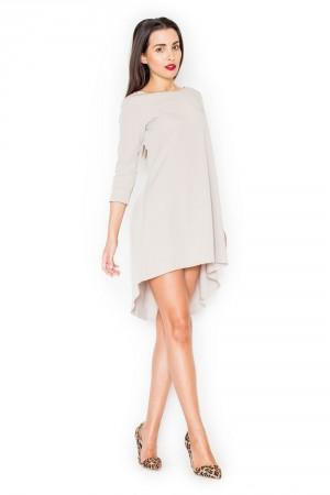Dámské šaty K141 beige béžová