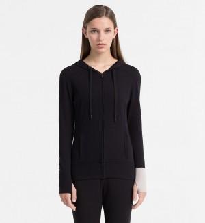 Dámská mikina Seamless QS5547E černá T|O Calvin Klein