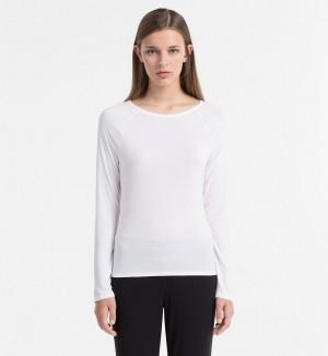 Dámské tričko Cotton Luxe QS5493E bílá T|O Calvin Klein