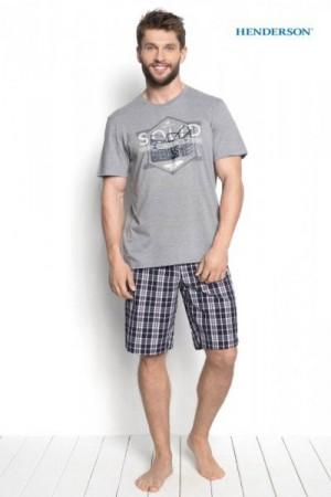 Henderson Duke 34271-90X Šedé Pánské pyžamo XXL šedá (90)