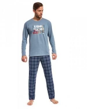 Cornette London Streets 124/88 Pánské pyžamo M modrá