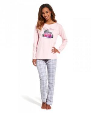 Cornette Go to Rome 655/126 Dámské pyžamo L růžovo-šedá