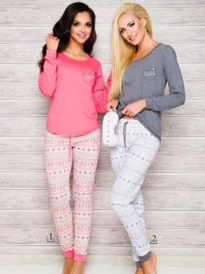 Taro Nora 2124 AW/17 K1 Růžové Dámské pyžamo XL růžová