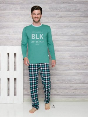 Tara Leon 1173 AW/17 K2 Zelené Pánské pyžamo S zelená