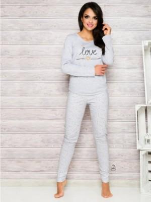 Taro Malina 1198 AW/17 K2 Šedé Dámské pyžamo L šedá