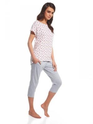 Cornette Cindy 055/106 Dámské pyžamo L růžovo-šedá