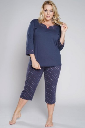 Italian Fashion Damia r.3/4 k.3/4 Dámské pyžamo M tmavě modrá