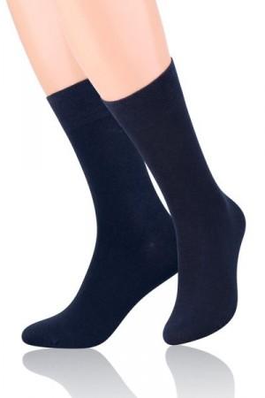 Steven 063 Pánské ponožky 41-43 tmavě modrá