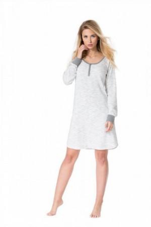 Noční košile Rossli SAL-ND-2018 XL šedá melír