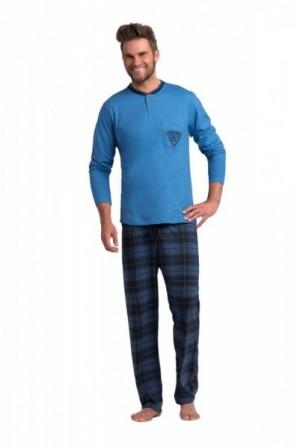 Rossli pánské pyžamo dlouhé tm.modré XXL modrá