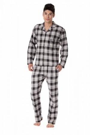 Pánské pyžamo Rossli SAM-PY-092 XXL béžová/kostka