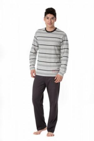 Pyžamo Rossli SAM-PY 100 XXL šedo-grafitová (tmavě šedá)