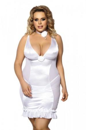 Angels Never Sin Tanise Košilka Size Plus XL/XXL bílá