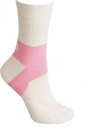 Sesto Senso Tennis Ponožky 36-37 bílo-růžová