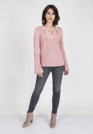 MKM Kylie SWE 117 Růžový Svetr L starorůžová