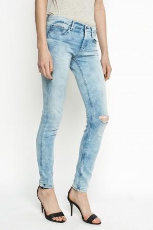 Calvin Klein Jeans - Džíny Mid rise skinny OBLST