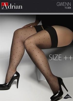 Samodržící punčochy Adrian Gwenn Size ++ 15 den