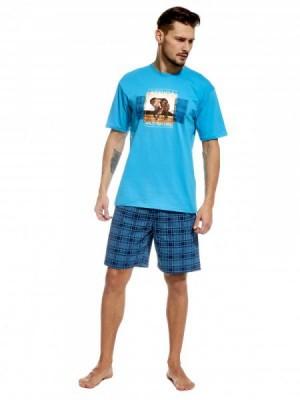 Cornette Africa 326/52 Pánské pyžamo L modrá
