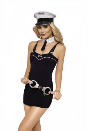 Roxana 6780 Policistka Erotický Kostým L černo-bílá