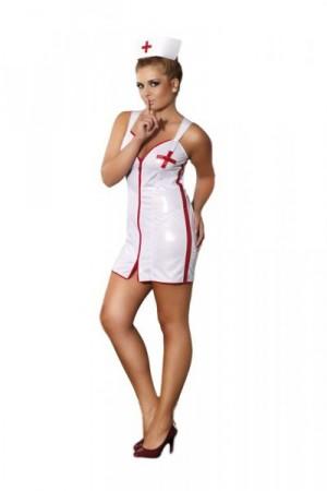 Andalea Sensual Nurse Erotický Kostým 50/52 bílá