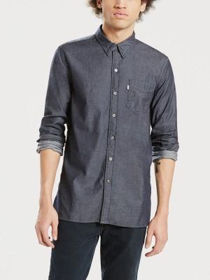 Košile LEVI'S Sunset 1 Pocket Shirt Flat Black Modrá