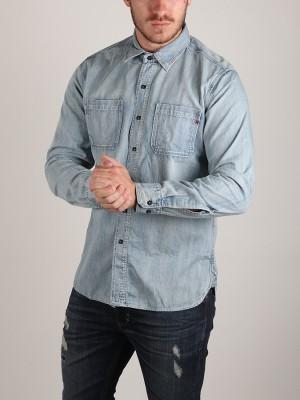 Košile Replay M4975P Hemd Modrá