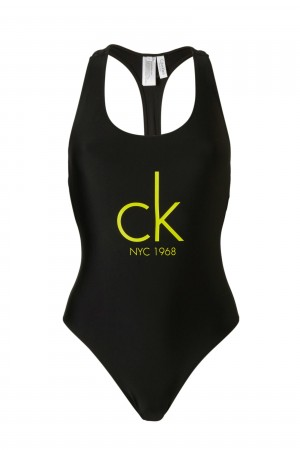 Jednodílné plavky KW0KW00041-001 - Calvin Klein