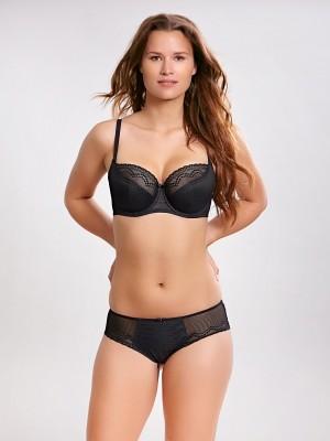 Kalhotky Hettie 9012 černá šedá - Panache Cleo Velikost do filtru: 34, Barva Panache: černá (black)