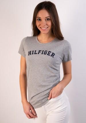 Dámské tričko Tommy Hilfiger UW0UW00091 M Šedá