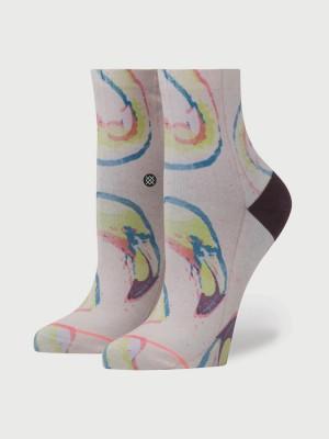 Ponožky Stance Bird Brain Lowrider Pink Šedá